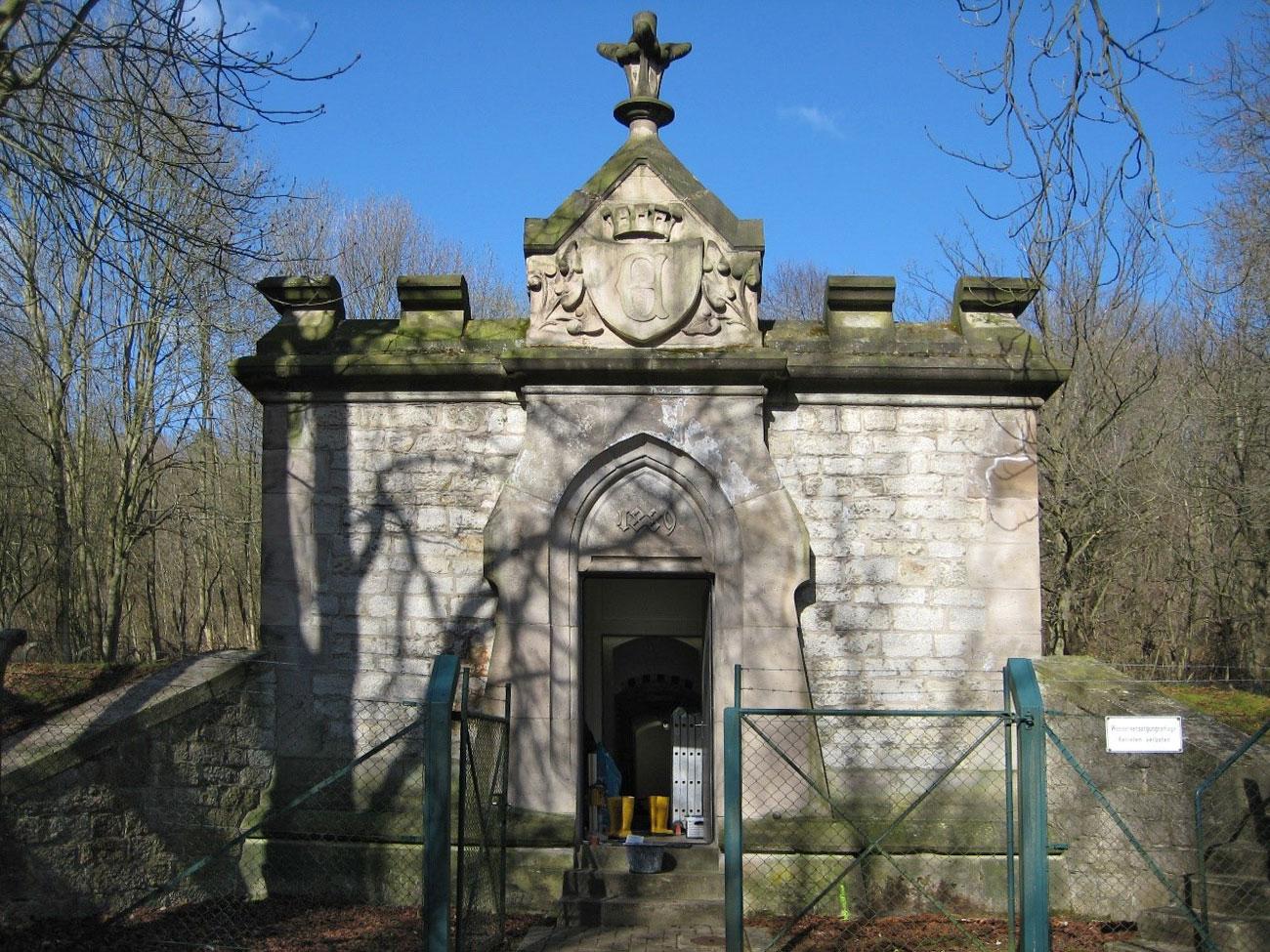 Historische Fassade eines Trinkwasserbehälters